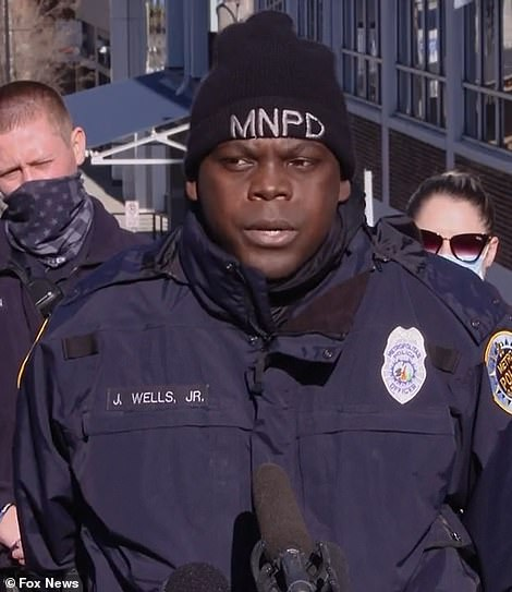 Officer James Wells (pictured) said he heard a voice from God telling him to check on his partner