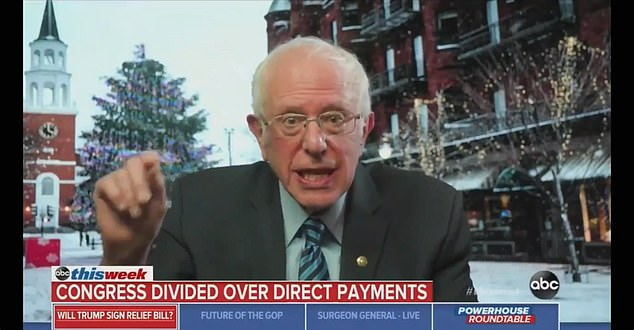 Bernie Sanders says Donald Trump is 'unbelievably cruel' for not yet signing COVID relief bill