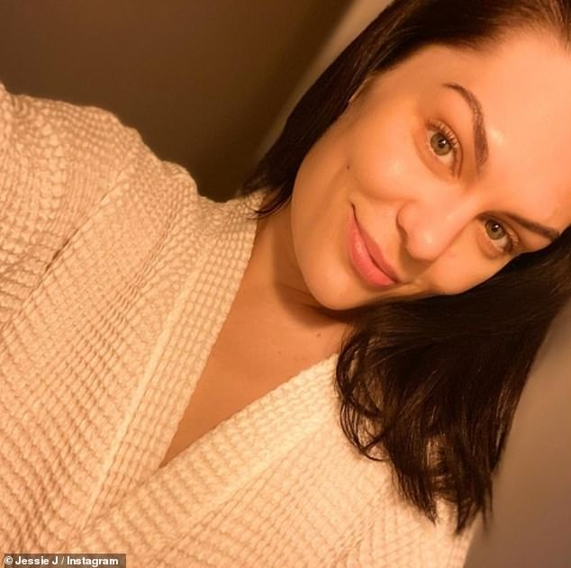 Tough time: On Christmas Day, Jessie took to Instagram to share selfie, where she confirmed in her caption that she had been diagnosed with Meniere's syndrome