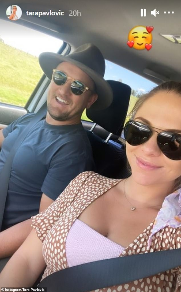 Tara's latest post follows revealing she and Nick Shepherdson (left) were in the midst of discussing baby names for their unborn son earlier this month