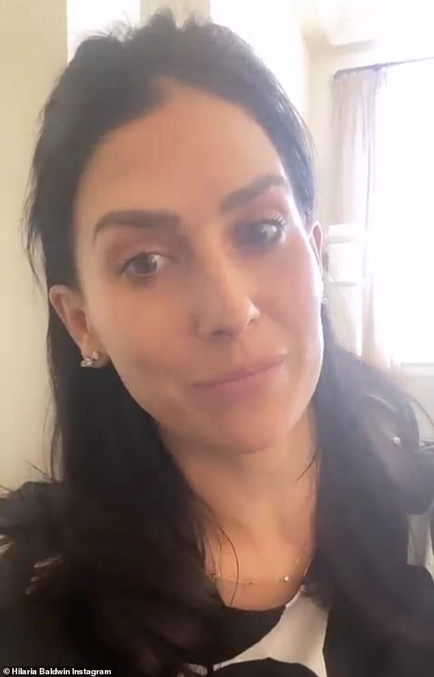 Social media break: It came after Hilaria posted a video update to her Instagram Story for her 854K followers: 'I've said my piece. I'm so tired. I'm going to go back to my family, because I've been not a very good mommy spending a lot of time focusing on this. I just want to be left alone. I love you and I'm going to sign off for a long time'