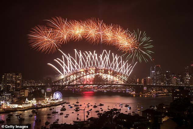 Plans to allow about 5,000 frontline workers to watch the fireworks from vantage points around the Sydney Harbour have been scrapped. Pictured: Fireworks in 2020
