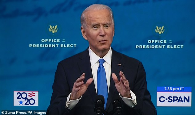 Sir David, a passionate environmental campaigner, said 'of course' Mr Biden's November election victory was good for the world, adding 'how could I deny that?'