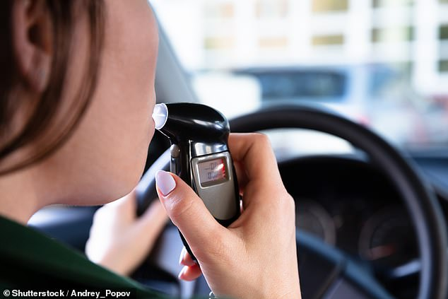 The 36-year-old woman was charged with high range drink driving and issued with a Court Attendance Notice to appear at Yass Local Court on January 15 (stock image breath test)