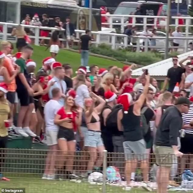 There were wild scenes (pictured above) at Bronte Beach on Christmas Day when a number of backpackers attended a party despite Covid rules in place
