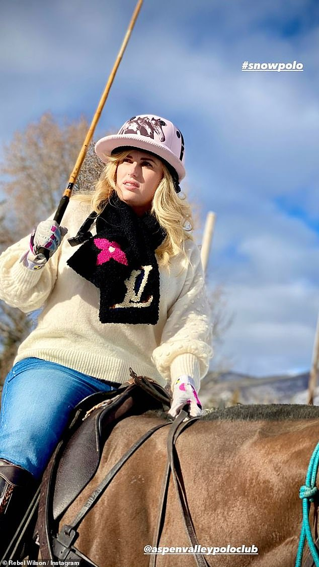 Fancy:Partaking in one of Aspen's go-to activities, Rebel, Jacob, and their friends decided to participate in a Snow Polo match