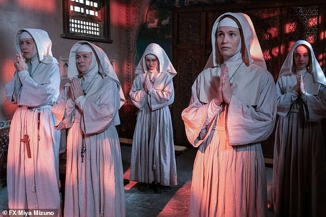 Author Rumer Godden, was not a fan of the original 1947 film Black Narcissus because it wasn't filmed in the Himalayas. Pictured: A scene from the BBC series, which was set in the Far East