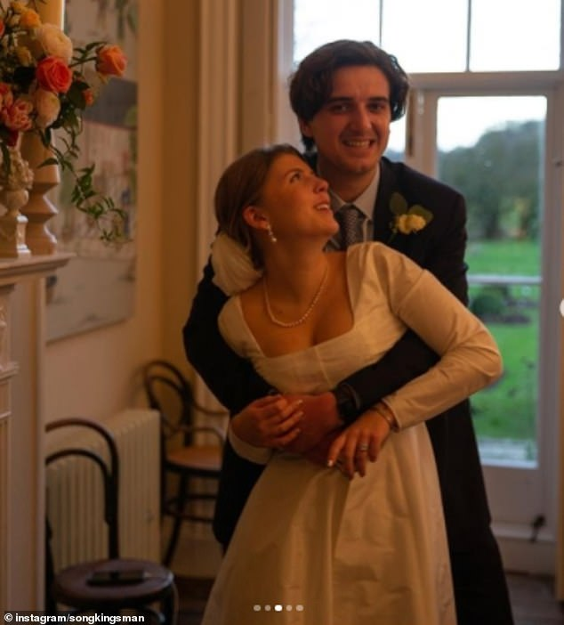 In snaps shared by Coco's sister Song, the couple appeared overjoyed, cuddling up for photographs at their Wiltshire venue