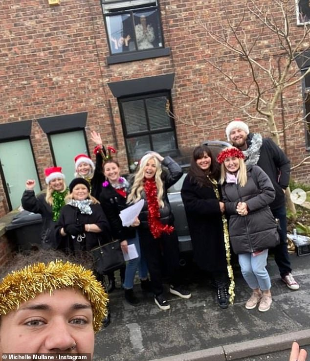 Friends til the end:Just a week ago, she shared a touching video to Instagram, which she shot from her bedroom window, of her friends gathered outside her house singing Christmas carols up to her