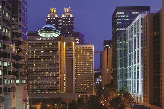 Kalecia Williams, 16, was shot dead by a 16-year-old boy in a hotel room at Hyatt Regency hotel in Atlanta (pictured) following an argument the day after Christmas