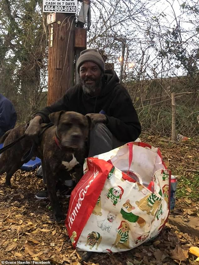 Walker is pictured with Bravo. W-Underdogs provides food and medical care for the dog