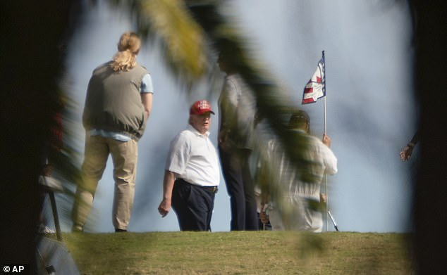 Trump golfs nearly daily when he is Palm Beach, staying at Mar-a-Lago over the holiday