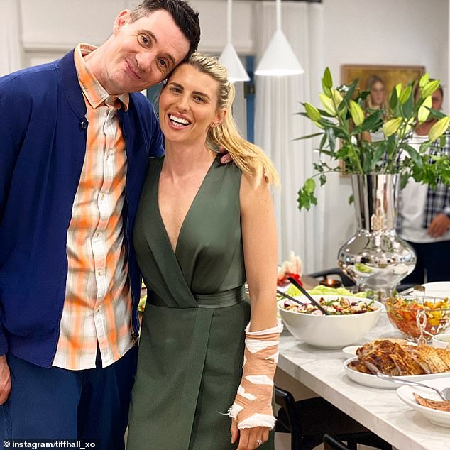 His biggest supporter: In October last year, Tiffiny boasted about Ed's Adonis-like physique, telling Who magazine her husband's dedicated training regime had paid off