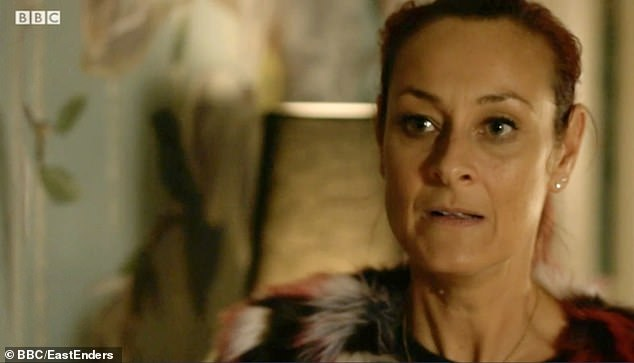 Killed off: Luisa's EastEnders character Tina Carter (pictured) was brutally murdered by Gray Atkins in December