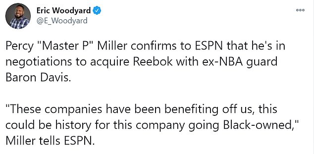 `` These companies took advantage of us, it could be the story of this company going black, '' Master P told ESPN reporter Eric Woodyard.