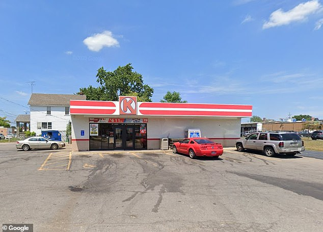 The fight occurred in this Circle K gas station convenience store in Elyria, Ohio