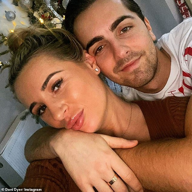 Happy couple:The former Love Island winner is currently preparing for the birth of her first child with boyfriend Sammy Kimmence, with whom she confirmed her pregnancy in July