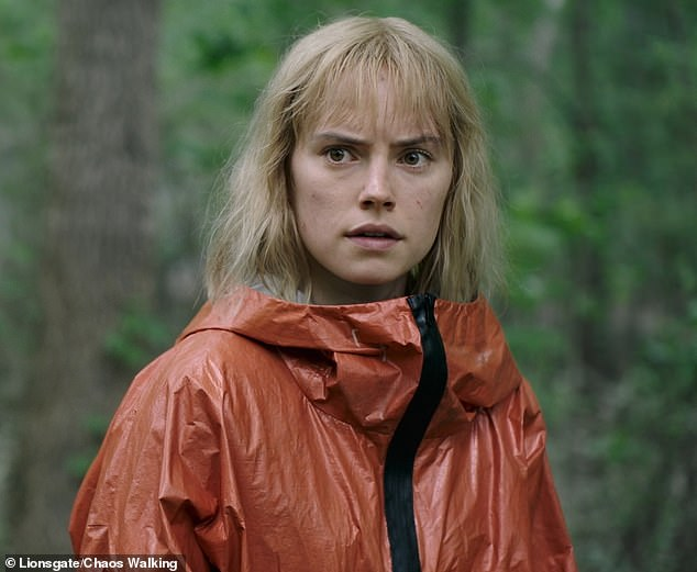 Shooting:Daisy revealed that while she was filming 2021 sci-fi flick Chaos Walking, she was given the 'intimidating' tag while having her costume fitted (pictured in the film)