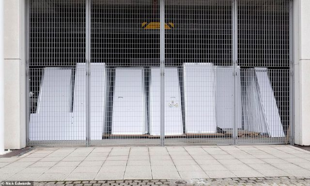 LONDON: Partitions stored at the ExCeL centre pictured today. The hospital was opened to much fan-fare and said to be the solution to overwhelmed health services.