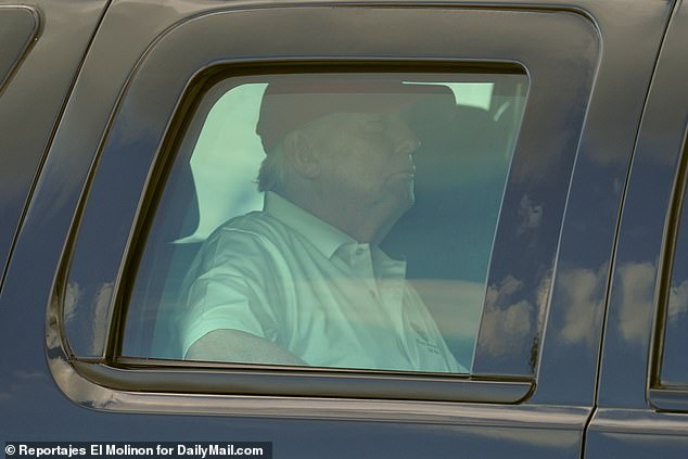 Trump, pictured heading to golf Tuesday at his West Palm Beach club, vetoed the bill because it did not include a measure tossing out protection for 'big tech' and created a commission on renaming 10 military bases named after Confederate figures