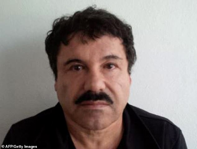 Joaquín 'El Chapo' Guzmán (pictured) was handed a life-sentence in the U.S. in 2019, when he was found guilty of a number of criminal charges relating to his leadership of the Sinaloa Cartel