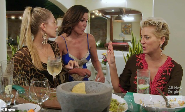 Sticking around: De Lesseps has been a main cast member for most of RHONY's run, with an exception being in season six
