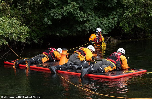 Mr Hemy's body was later found in the River Itchen in Southampton, Hampshire, by police officers