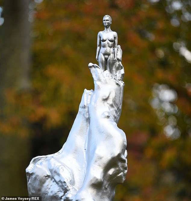 The statue, produced by artist Maggi Hambling to pay tribute to the 18th-Century feminist, provoked uproar when it was unveiled last month in Newington Green, North London