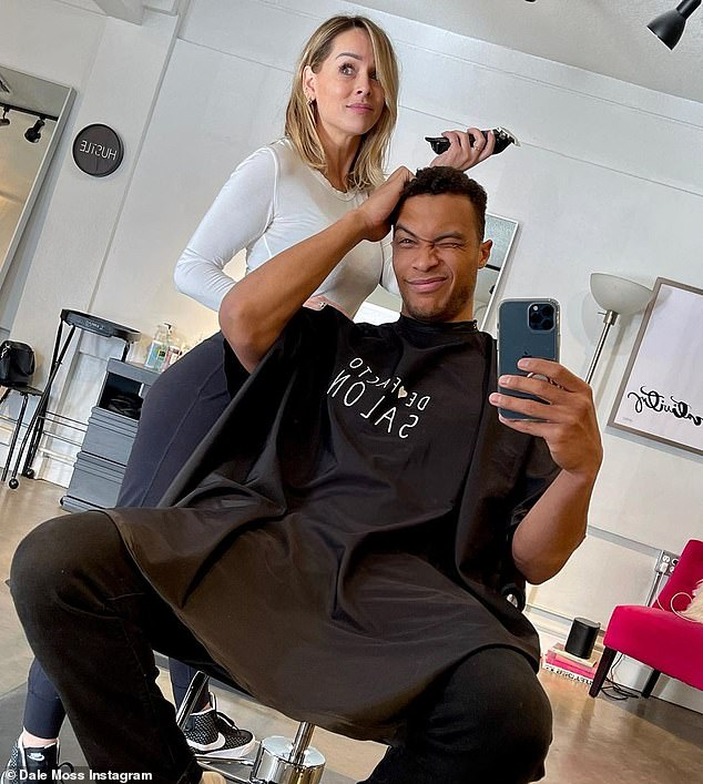 Snip snip:Things seem to be going swimmingly between the engaged couple as they even took a 'monumental step' in their relationship as hairdresser Clare gave Moss his 'last haircut of 2020' weeks ago