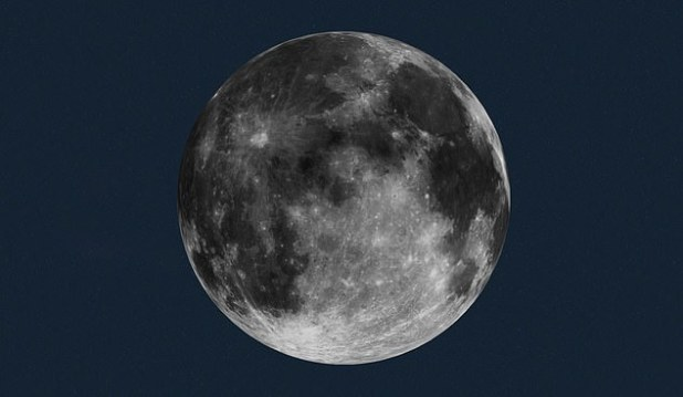 Pictured is an image of NASA showing how the moon would look on the evening of December 29