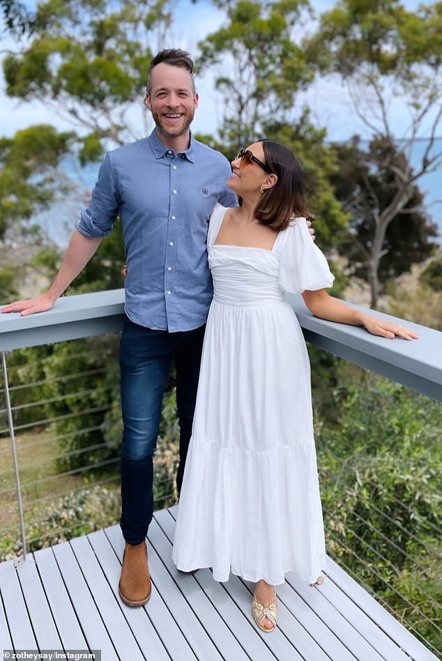 Big spenders:Zoe and her husband Hamish Blake dropped $8.925million on the Vaucluse mansion earlier this month