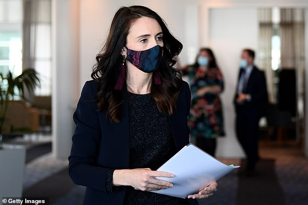 National responses to the coronavirus pandemic have not been significantly more successful in those countries led by women, in comparison to men, a study claimed. Pictured, New Zealand Prime Minister Jacinda Ardern, who has been praised for her handling of COVID-19