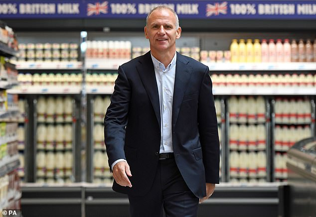 Knighthood: As a result of an administrative error, when Dave Lewis (pictured) was chief executive, some 78,000 Tesco staff were paid below the minimum wage for part of 2017