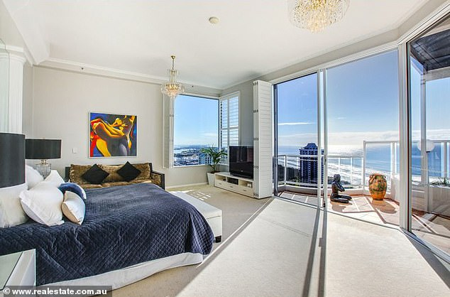 Fun:The property was bought by businessman Mr Sharpe for $2 million in 1998, and has been described as a perfect 'party penthouse'