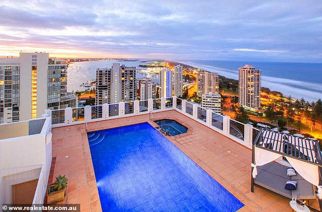 Party time:Multiple entertaining decks and an area for barbeques makes it perfect for hosting parties.A private rooftop terrace adds to the luxurious air of the property, as does the eight-person spa
