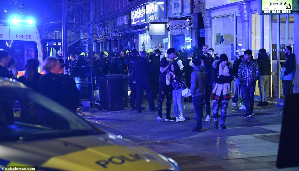 Dozens of people are said to have lined the streets in Edgware Road early on Friday morning amid reports of an illegal rave
