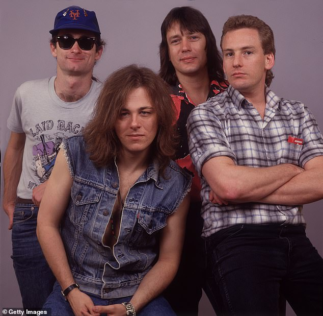 Feeling it: Frontman Dave Faulkner, 63, (centre) told The Daily Telegraph on Friday that their old music still feels fresh to them. 'It doesn't really feel like 40 years ago, we still play those songs,' the singer told the paper. Pictured in 1987