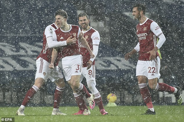The Scot has been a bright spark of Arsenal's season and opened scoring in 4-0 West Brom win