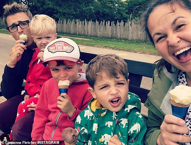 Family first: The McFly singer, 35, and his 2020 I'm A Celebrity winner wife, 35, also share a son named Max who is two-years-old (pictured in 2020)