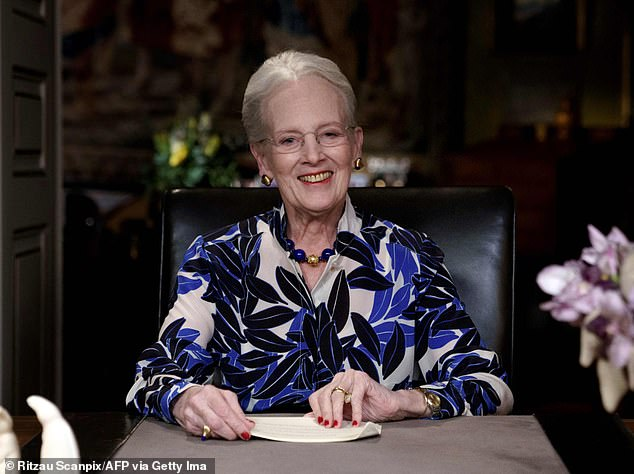 Queen Margrethe of Denmark, 80, (pictured) received her first dose of the Covid-19 vaccine on New Year's Day