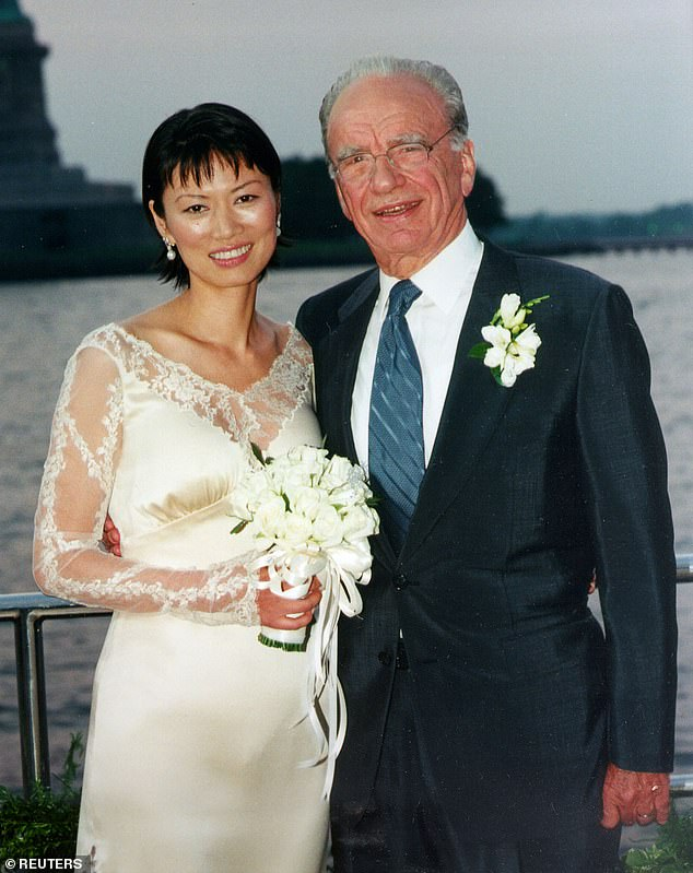 Former husband: Wendi, 52, was married to media mogul Rupert Murdoch from 1999 to 2013