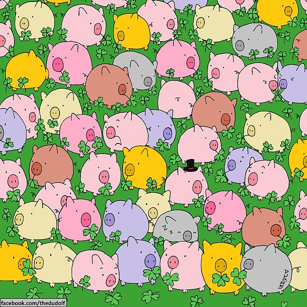 Hungarian cartoonist Gergely Dudas, better known as Dudolf, challenged players to find the only four-leaf clover in this vibrant springtime scene