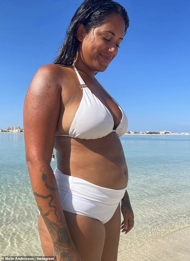 Keeping it real: It comes after the reality star showed off her 'biggest bloat ever' while posing in a white bikini as she welcomed in 2021 with a beach day