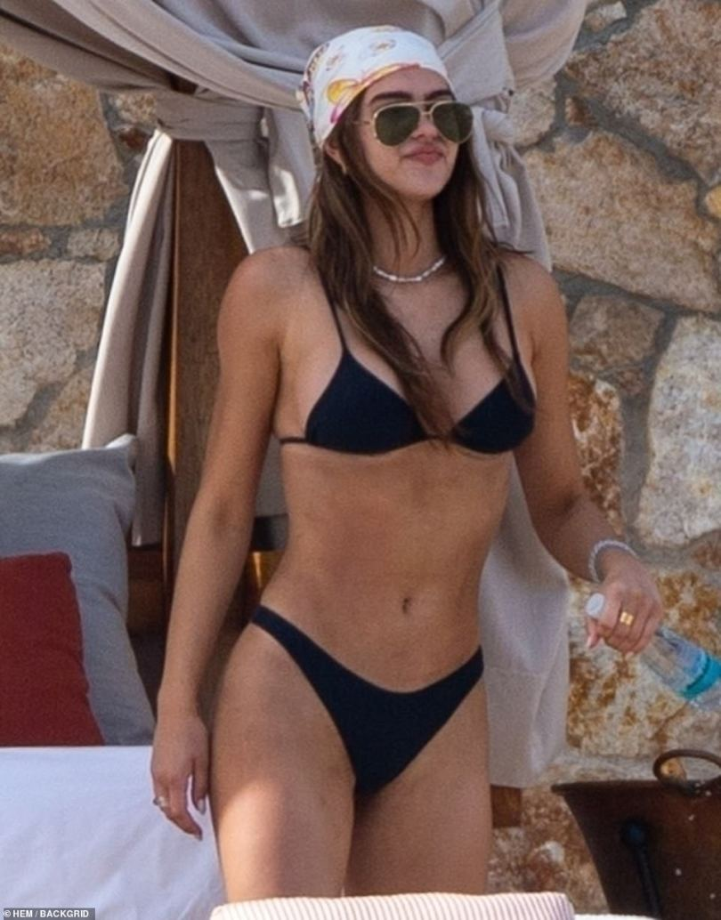 Romantic getaway:Amelia Gray Hamlin, 19, and boyfriend Scott Disick, 37, ring in the new year together in Cabo as their romance continues to develop on a beach getaway
