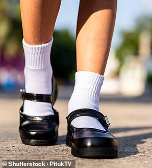 School shoes are expected to fetch up to $111 per child for Australian parents (pictured: stock image)