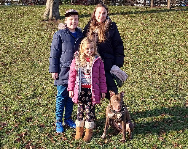 Ella Brucher, 35, a self-employed cleaner, has two children, Scarlet, six, and Dominic, ten, (pictured together) in Purley which is in Tier 4. Ms Brucher said: 'After not being able to work at all for three months earlier in the year, it's very difficult – and more than that, it's hard for the children, too. They want to be back at school.'