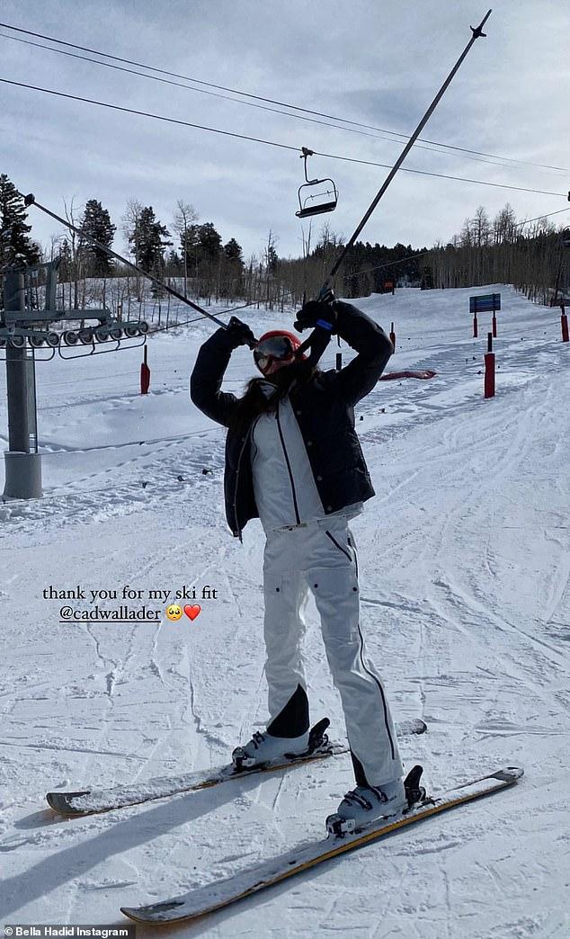 Hitting the slopes: Bella previously hit the slopes, as she got away to the snowy mountains of Aspen for a New Year's ski trip