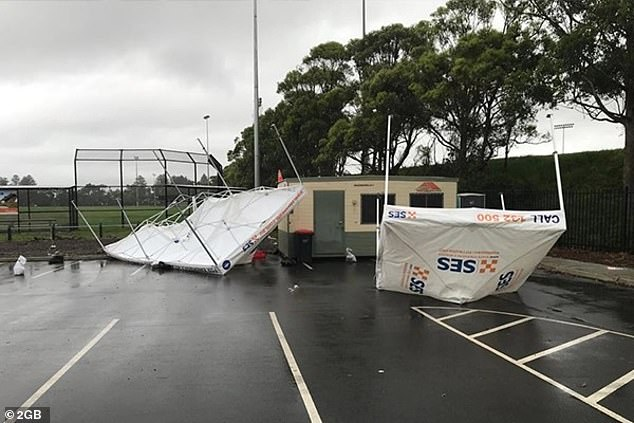 The vandals targeted the Warriewood site on three separate occasions knocking over gazebos at the pop-up clinic on
