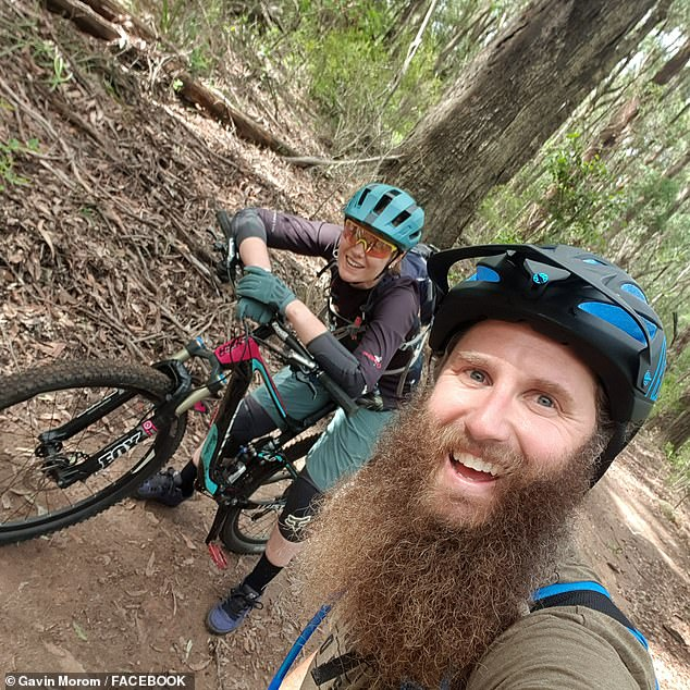 Mr Morom (right) had posted about his trek with Senior Constable Foster (left) on adventurers social media app Strava on Saturday. The policewoman only recently returned to the job after overcoming breast cancer