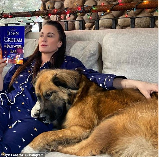 Some time away:Although she is extremely family oriented, Kyle made sure to sneak away for some time alone with a good book